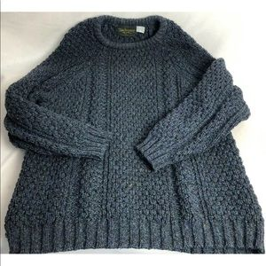Donegal Men's Large Hand loomed Wool Irish Sweater